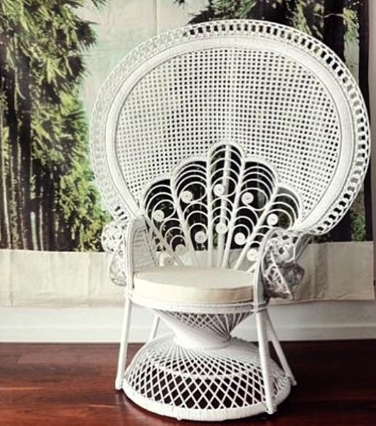 Peacock Fan Back Chair